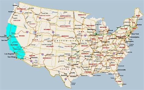map california usa fitzy s web site travel united states of america