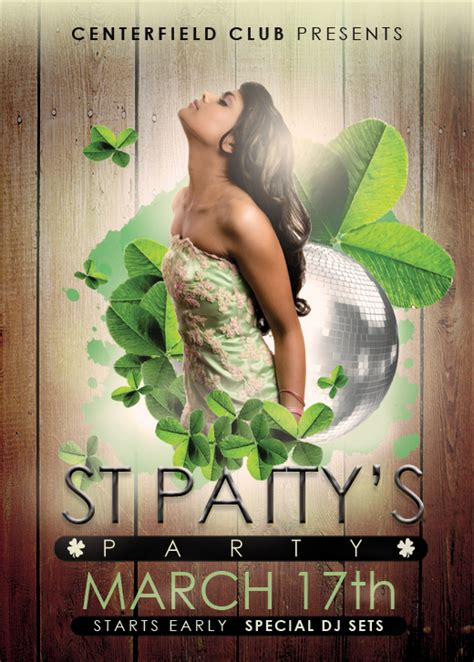 St Patrick S Day Designs 3 Free Photoshop Flyer Templates For Bars And Clubs Nextdayflyers Next Day Flyers Templates