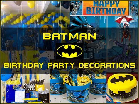 batman birthday party ideas