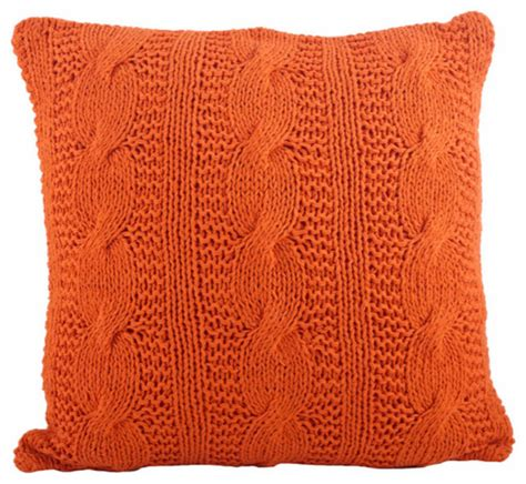 Design Ideas For Cable Knit Throw Pillow Cable Knit Design Throw Pillow Contemporary Decorative Pillows By Fennco Styles Inc
