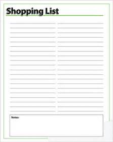 Free Printable Grocery List Template Free Printable Grocery List Form Calendar Template 2016