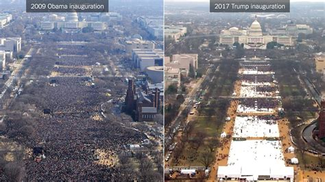 picture of inauguration crowd trump s inauguration vs obama s comparing the crowds