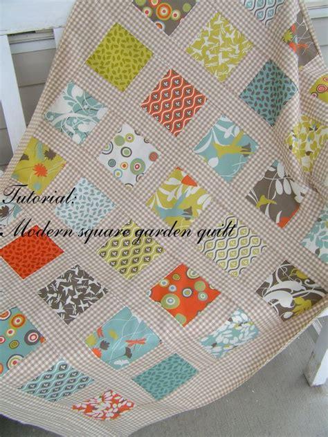 Modern Quilt Tutorial free tutorial modern square garden quilt by sachiko
