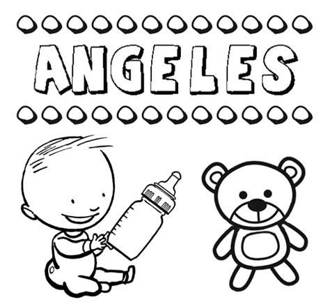 imagenes angeles navideños para colorear dibujo del nombre 193 ngeles para colorear pintar e imprimir