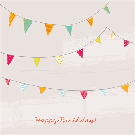 vintage bunting template birthday bunting flags card template 123freevectors