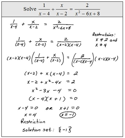 Solving Rational Equations Worksheet Answers by Openalgebra Solving Rational Equations