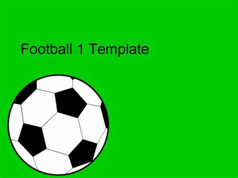 football vector powerpoint template