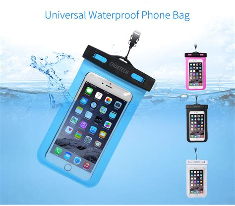 Universal Waterproof Smartphone Pouch Size M Purple choetech 30m waterproof pouch universal mobile phone bag swimming easy take photo