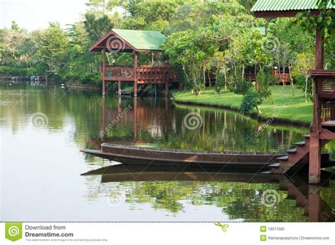 thai boat house thai boat and waterfront pavilion royalty free stock photo image 18071585