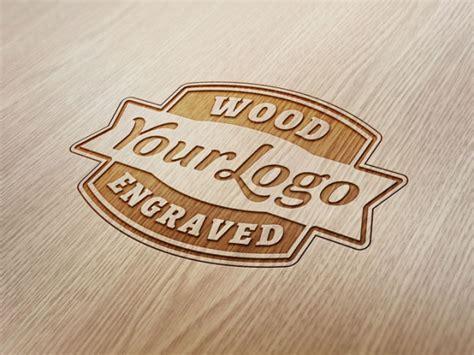 metal engraved mockup wood engraved logo mockup freebiesxpress