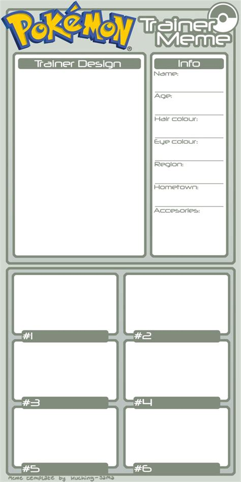 trainer card template deviantart trainer meme template by kuching sama on deviantart