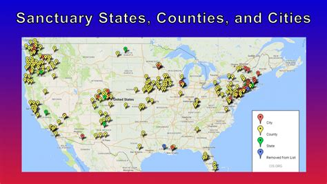 united states map of sanctuary cities 100 maps sanctuary cities counties and america