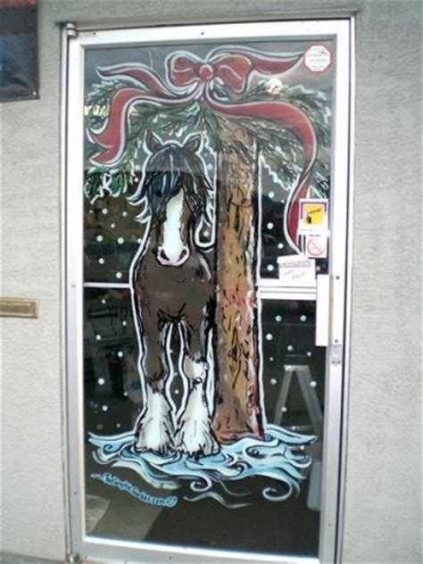 window painting signs christmas holiday seasonal artist christmas horse window things that bring me joy pinterest