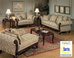 beige clarissa fabric traditional 2pc sofa set w