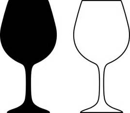 wine glass outline wine glass silhouette black and white clip at clker