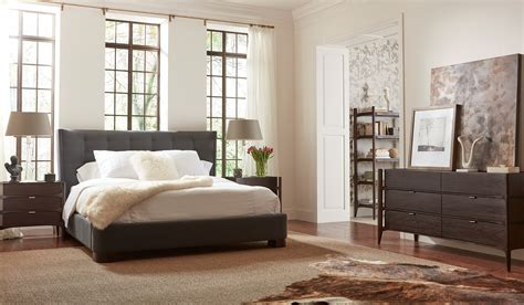 emerson rosewood upholstered bedroom set em005 brownstone