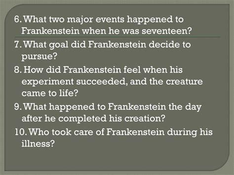 themes in frankenstein chapter 6 ppt frankenstein chapters 1 5 powerpoint presentation