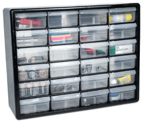 The Black Hardware Storage Cabinet with 24 Drawers