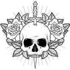 rose tattoo drawing best 25 skull and rose drawing ideas on pinterest