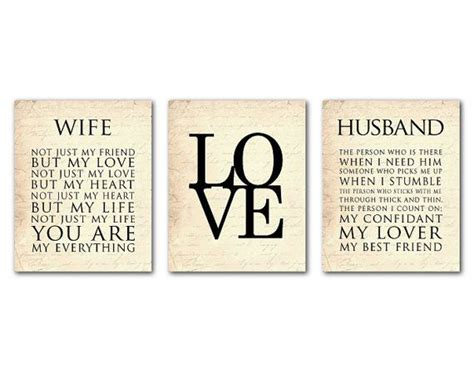 printable husband quotes wife husband typography love print trio anniversary