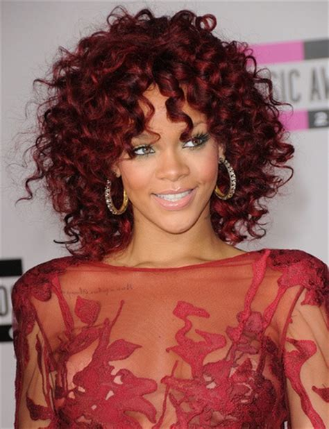 curly hairstyles rihanna rihanna red curly hair grin it wear it pinterest