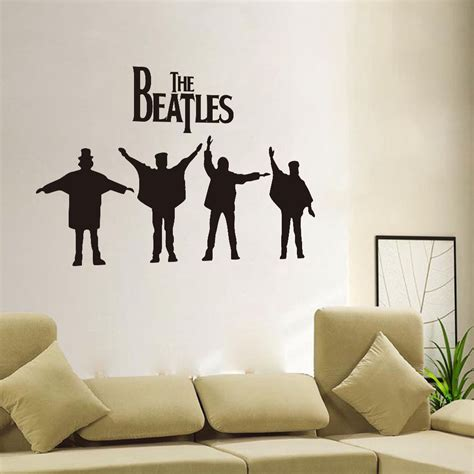 beatles home decor people the beatles removable vinyl decal art mural home