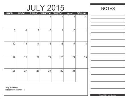 2015 calendar templates free printable calendars