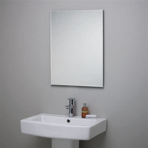 bathroom mirror edging john lewis bevelled edge bathroom mirror 70cm x 50cm new with defect ebay