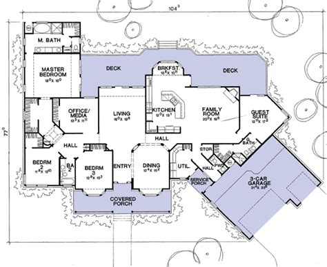 flexible house plan with guest suite 31030d 1st floor