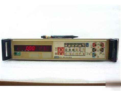 fluke bench multimeter fluke 8520a bench system multimeter opt 010