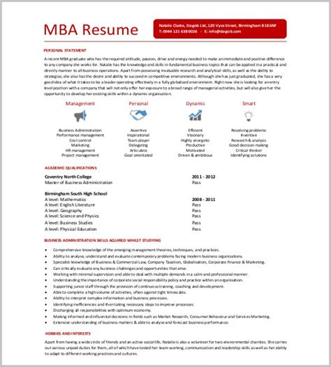 Professional Engineer Mba by Format Of Professional Resume For Mba Resume Resume