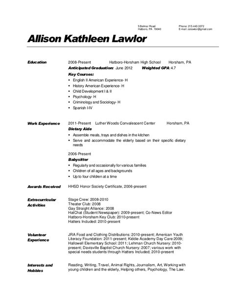 Gpa On Resume Exle by Sle Resume Gpa Sle Resume