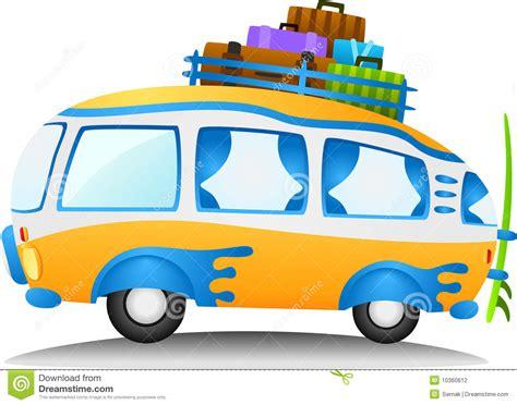 Retro Camper by Cartoon Travel Van Stock Photography Image 10360612