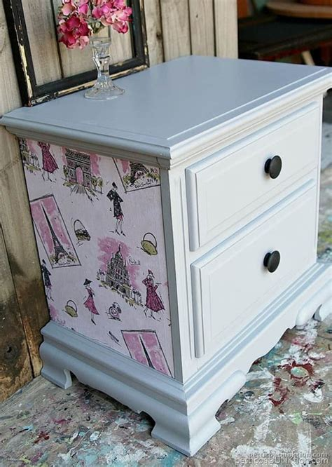 Furniture Decoupage - yes i use gray primer as a top coat call me a rebel