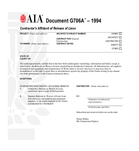lien agreement template lien release forms alabama conditional waiver and release