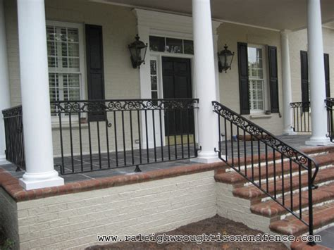 front porch metal railings nc custom wrought iron railings raleigh wrought