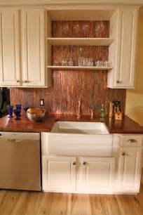 Copper Kitchen Backsplash Ideas Stunning Copper Backsplash For Modern Kitchens Decozilla