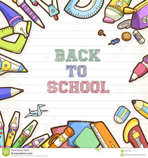 banner design of school back to school poster and banner design stock vector