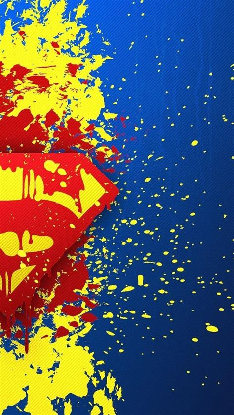 Dc Background Check Dc Comics Superman Logo Blue Background Paint Splatter