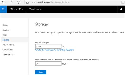 Storage Admin by Increase Onedrive For Business Storage To 5tb Office 365 Education