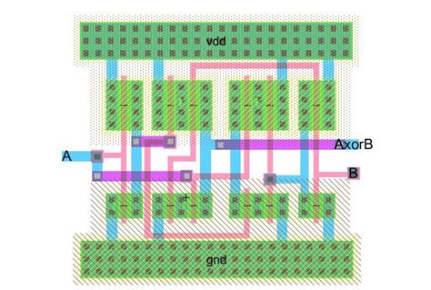 xor layout design lab6 designing nand nor and xor gates for use to