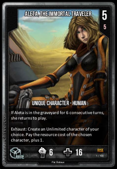 infinity wars aleta aleta the immortal traveler infinity wars atcg wiki