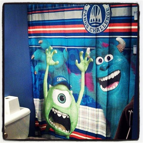 Our New Shower Curtain Is Awesome Sporting Monsters Unive