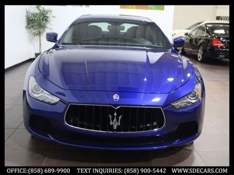 blue maserati 4 door 2015 maserati ghibli blue emozio apollo wheels 4k miles