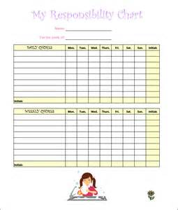 chore templates 7 chore chart templates free word excel pdf