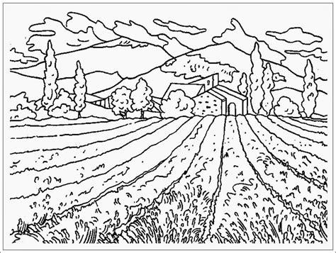 Coloring Mewarnai Pemandangan mewarnai gambar pemandangan gunung dan sawah dari www