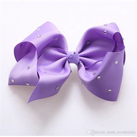 Jojo Siwa Bow By Timorashop 8 in jojo siwa bows rhinestone hair bows fashion jojo bow