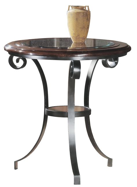 small glass top accent table small table with pewter base glass top accent