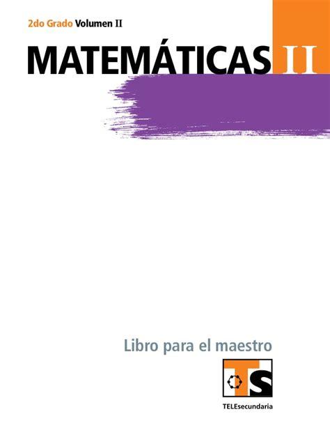 libro matemticas 5 grado sep para el maestro matem 225 ticas ii vol ii