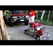 Remote Control Semi Truck Pulls Real Car  YouTube